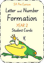 Year 2 | Handwriting | Letter Formation | Table  Cards | SA PreCursive