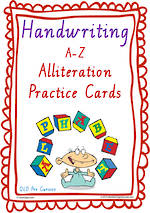 Year 2  Handwriting | Practice | Alliteration  Poster | QLD Pre Cursive