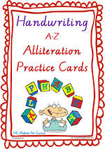 Year 2  Handwriting | Practice | Alliteration  Poster | VIC Modern Pre Cursive