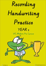 Year 2 Handwriting | Visible Learning | Recording | Colour Sheets | VIC Modern PreCursive
