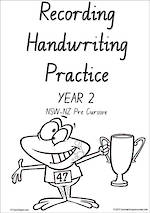 Year 2  Handwriting | Visible Learning | Student Recording | Sheets | NSW-NZ PreCursive