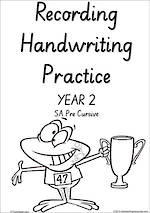 Year 2  Handwriting | Visible Learning | Student Recording | Sheets | SA PreCursive