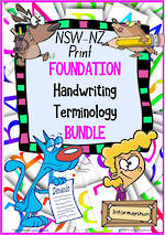 Foundation Handwriting | Terminology | BUNDLE | NSW-NZ Print