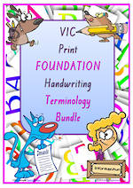 Foundation Handwriting | Terminology | BUNDLE | VIC Print