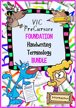Foundation Handwriting | Terminology | BUNDLE | VIC PreCursive