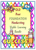 Foundation Handwriting | Visual Learning | BUNDLE | QLD Print