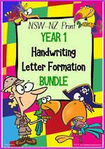 Year 1 | Handwriting | Letter Formation | BUNDLE | NSW-NZ Print