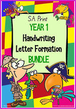 Year 1 | Handwriting | Letter Formation | BUNDLE | SA Print