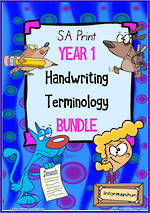 Year 1 | Handwriting | Terminology | BUNDLE | SA  Print