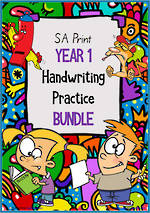 Year 1 | Handwriting | Practice | BUNDLE | SA Print