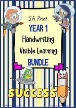 Year 1 | Handwriting | Visible Learning | BUNDLE | SA Print