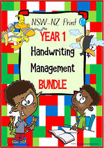 Year 1 | Handwriting | Management | BUNDLE | NSW-NZ  Print