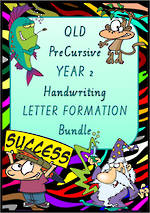 Year 2 | Handwriting | Letter Formation | BUNDLE | QLD PreCursive