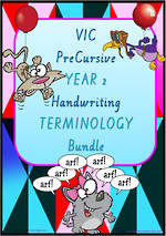 Year 2 | Handwriting | Terminology  | BUNDLE | VIC PreCursive