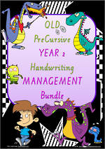 Year 2 | Handwriting | Management | BUNDLE | QLD PreCursive