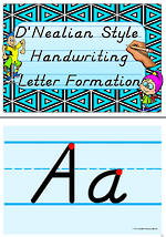 Handwriting | Letter Formation| Management | Display  | D' Nealian Manuscript
