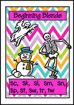 Beginning Blends | Picture Charts | Set 2