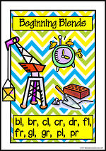 Beginning Blends | Picture Charts | Set 1