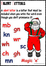 Christmas | Silent Letters | Spelling Rule | Charts