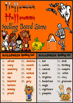 Halloween | Spelling | Board Game