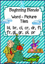 Beginning Blend-Picture Tile Cards SET 1