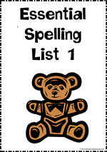 Essential Spelling | List 1 | Charts