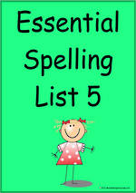 Essential Spelling | List 5 | Cards