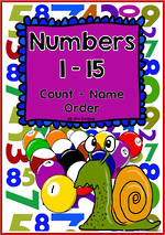 Numbers 1-15 | Chart and Cards | VIC PreCursive