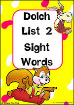 Sight Words |  Dolch Primer | List 2 | Cards | National First Style