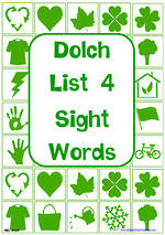 Sight Words |  Dolch Grade 2 | List 4 | Cards | VIC Print