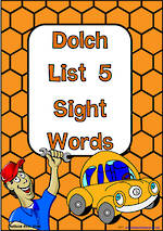 Sight Words |  Dolch Grade 3 | List 5 | Cards | National First Style