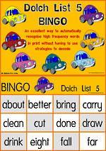 Sight Words | Bingo Game | Dolch Grade 3 | List 5 | National First Style