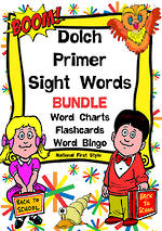 Sight Words |  Dolch Primer | List 2 | BUNDLE | National First Style