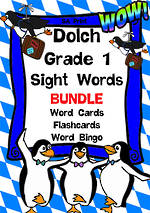 Sight Words | Dolch Grade 1 | List 3 | BUNDLE | SA Print