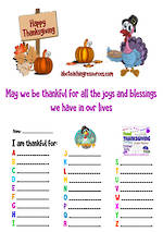 Thanksgiving | Gratitude List and Symbols