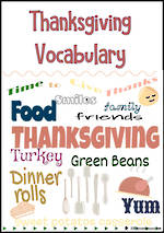 Thanksgiving | Vocabulary