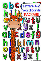 Alphabet A-Z | Letter / Sound - Word Cards | PACKAGE