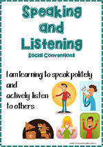 Speaking and Listening | Social Convertions | Charts