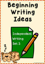 Beginning Writing Ideas | Task Cards | Set 3