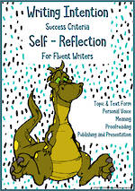 Writing Progressions | Learning Intentions & Self-Reflection | Fluent Writers