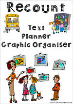 Recount Writing | Text Planner | Graphic Organiser | Chart