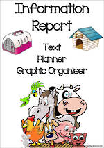 Information Report Writing | Text Planner | Graphic Organiser | Chart