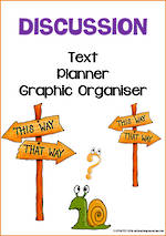 Discussion Writing | Text Planner | Graphic Organiser | Chart