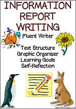 Information Report Writing | Learning Goals and Self Reflection | Fluent Writer
