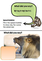 Visual Writing Prompts |  What did you say?