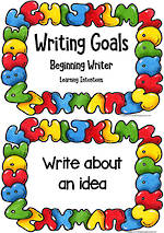 Writing Goals | Learning Intentions | Beginning Writers