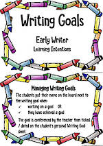Writing Goals | Learning Intentions | Early Writers
