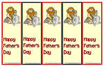 Father's Day | Caveman | Colour| Bookmark