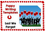 Remembrance Day | Poppy | Writing Template | Blank Page
