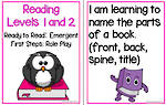 Emergent Reading | Levels 1 and 2 | Learning Goals |Flip Charts